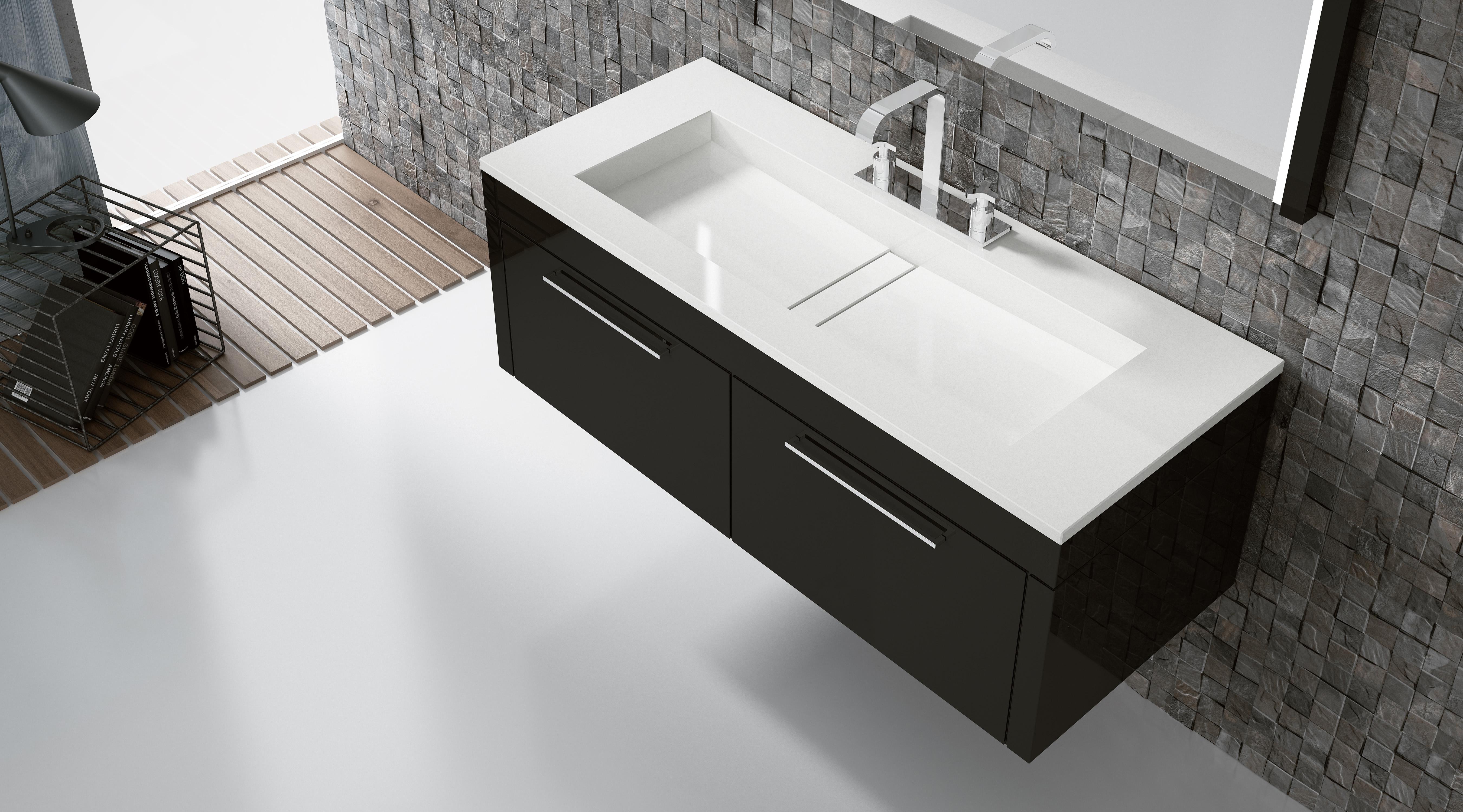 Espace Entre 2 Vasques cosentino élargit sa collection pour la salle de bains avec