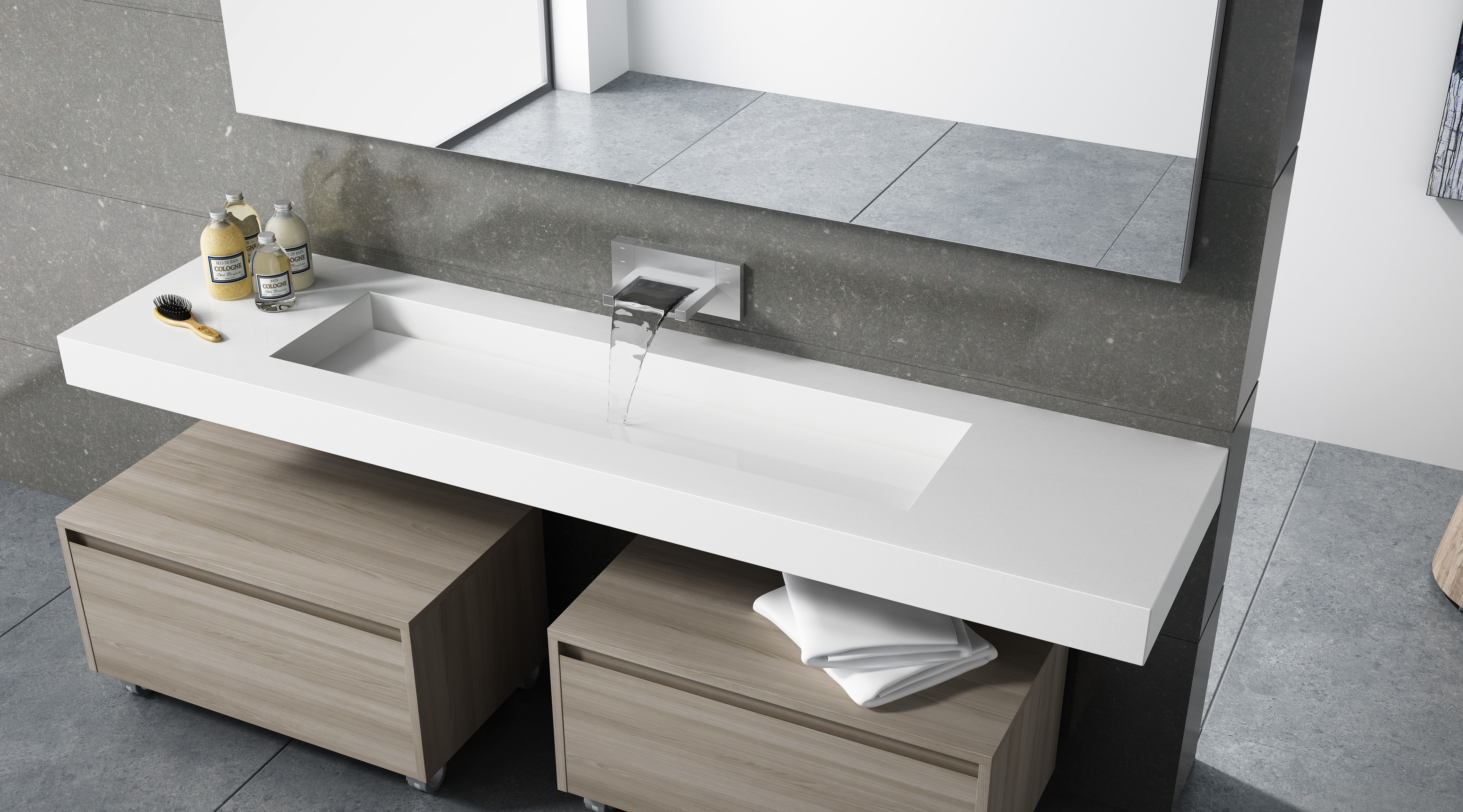 cosentino brasil cosentino amplia sua cole o exclusiva de banho com os novos lavat rios. Black Bedroom Furniture Sets. Home Design Ideas