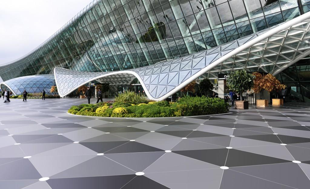 Dekton als Bodenmaterial im Baku Heydar Aliyev Airport