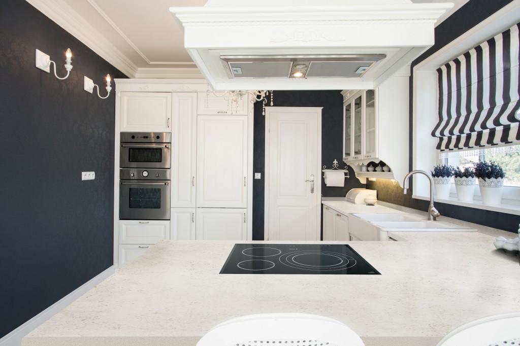 Dekton® Blanc Concrete als Küchen-Arbeitsplatte