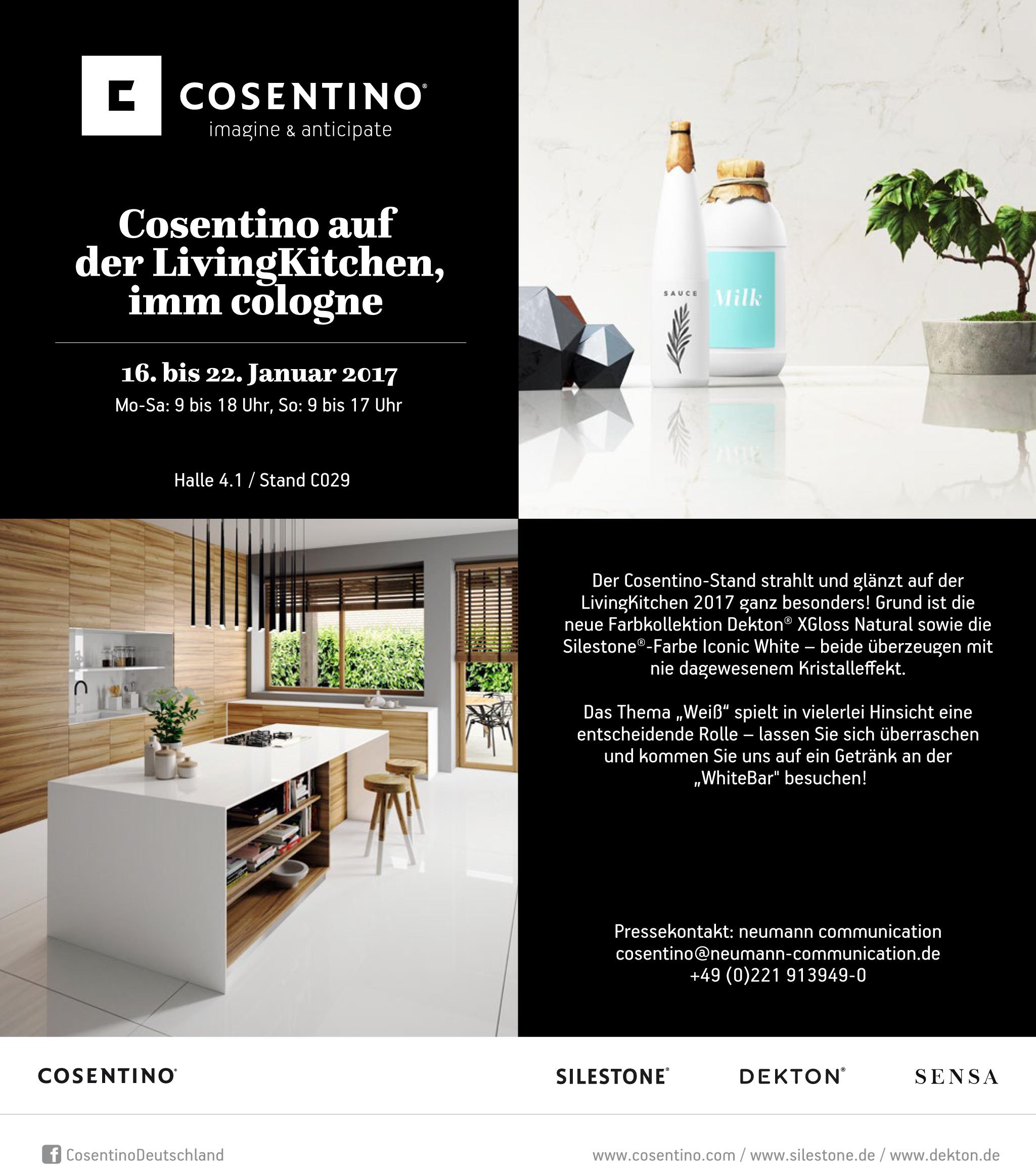 Cosentino Deutschland | Cosentino auf der LivingKitchen, imm cologne