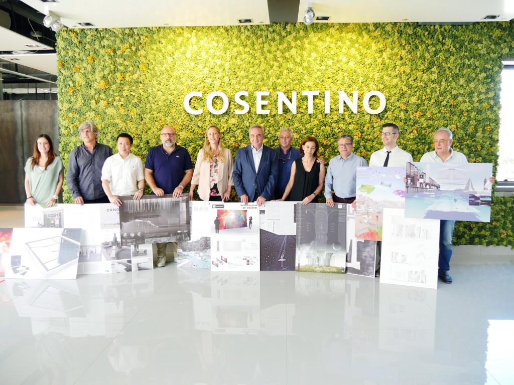 Die Gewinner der CDC 10 mit Cosentino-CEO Francisco Martinez-Cosentino Justo