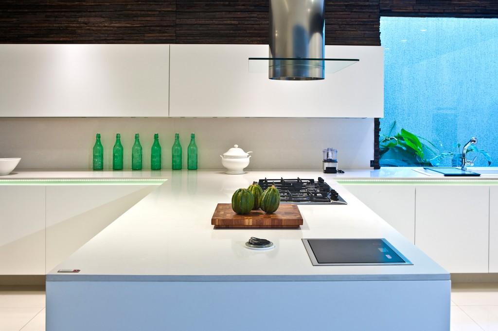 Küche mit Silestone Blanco Zeus Arbeitsplatte
