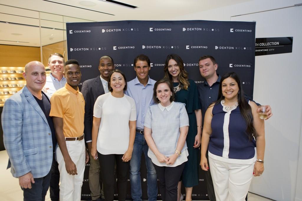 Das Team des Cosentino Centers Manhattan freut sich über den Besuch von Rafael Nadal