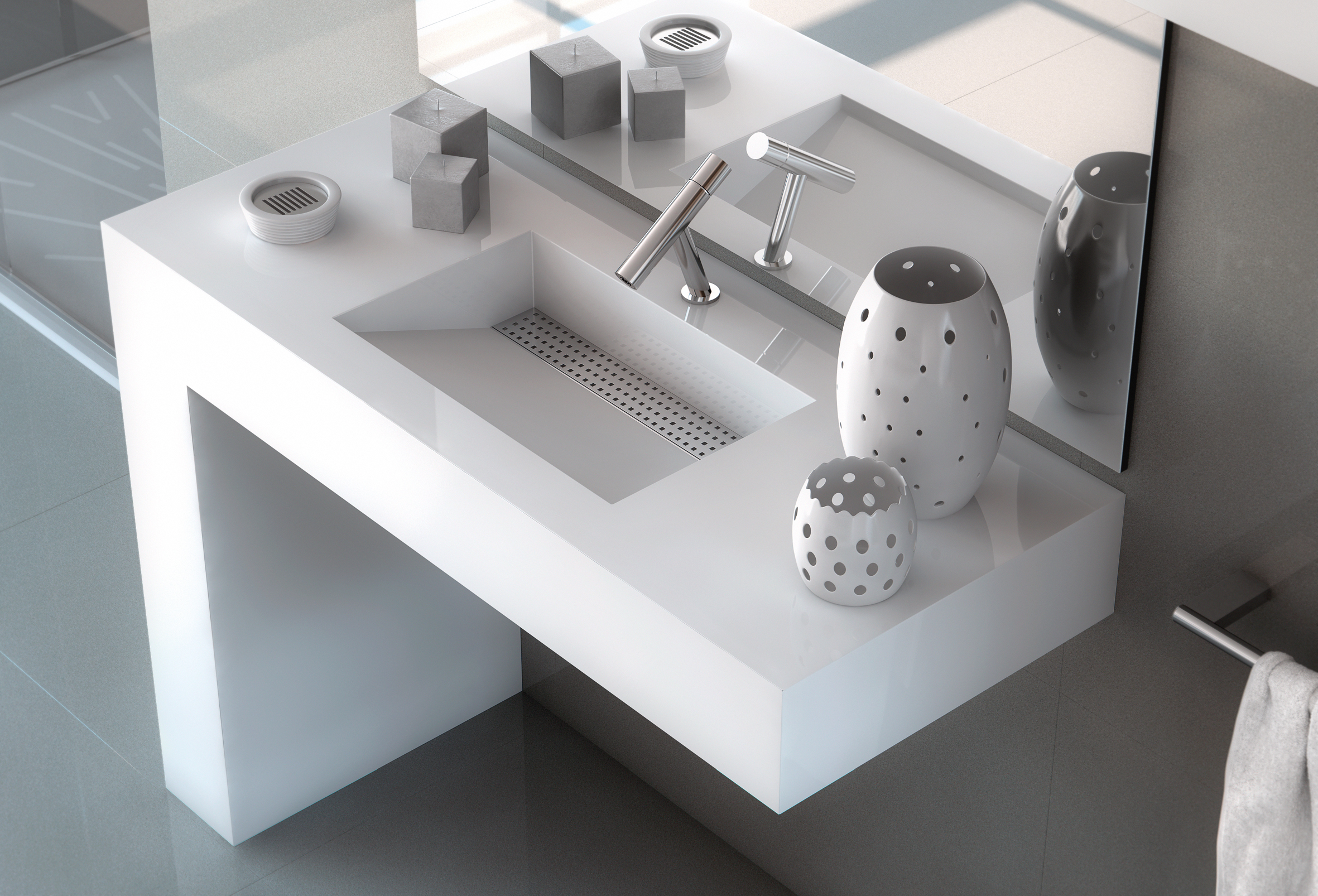 Create the bathroom of your dreams with the silestone for Silestone kitchen sinks
