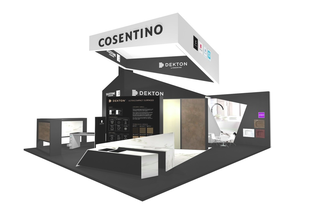 the cosentino group takes part in living kitchen cologne and kbis las vegas by cosentino. Black Bedroom Furniture Sets. Home Design Ideas